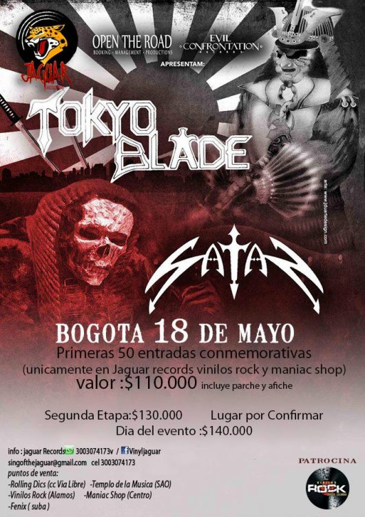 Tokio Blade en Bogota