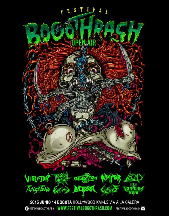 Afiche Festival Bogothrash Open Air 2015