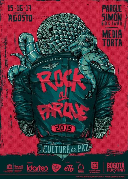 Afiche Rock Al Parque 2015