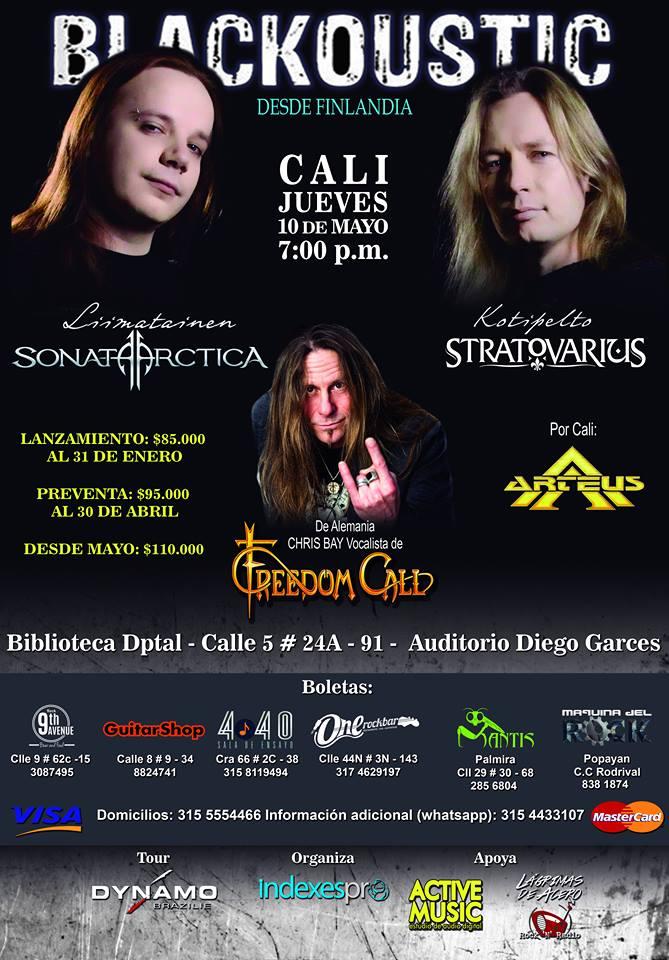 Timo Kotipelto vocalista de Stratovarius en concierto en Cali