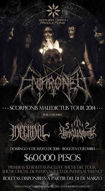 Enthroned Bogotá - ENTHRONED en Colombia - Scorpions Maledictus Tour 2014