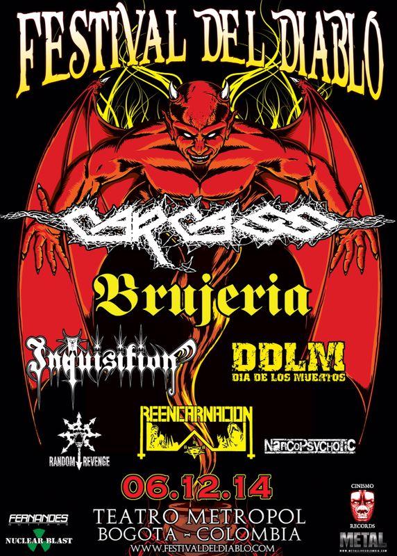 Festival del Diablo 2014 Carcass Brujeria - FESTIVAL DEL DIABLO - Diciembre 6, Teatro Metropol