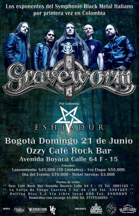 Graveworm Colombia Bogotá 2015
