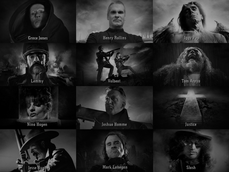 "Gutterdämmerung personajes 750x564 - ""Gutterdämmerung"" el proyecto cinematográfico que reúne a destacados artistas del Rock"