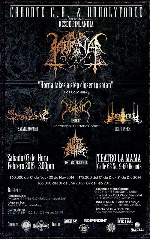 Horna en Bogota Colombia 2015