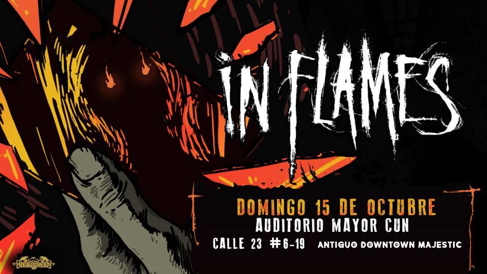 IN FLAMES regresa a Colombia en 2017 – Bogotá, Octubre 15, Auditorio Mayor CUN
