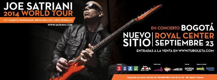 Joe Satriani Teatro Royal Center