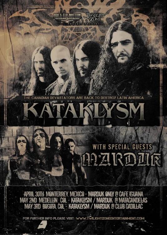 Kataklysm + Marduk en Colombia 2015