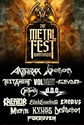 THE METAL FEST Cartel Completo por Jornada – Sábado 28 y domingo 29 de abril – Movistar Arena