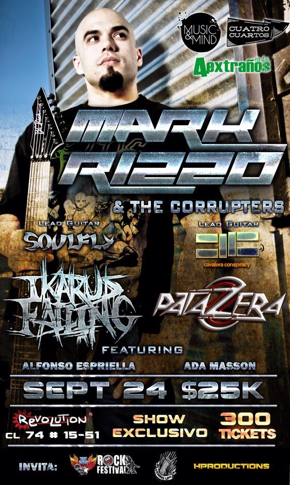 Marc Rizzo en Colombia 2014 - MARC RIZZO & THE CORRUPTERS en Colombia - Bogotá Septiembre 24, Revolution Bar
