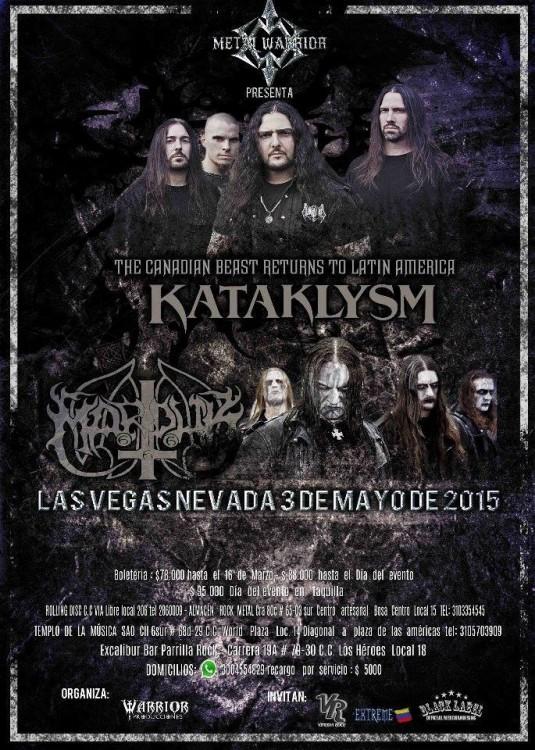 Metal Warrior Fest Kataklysm + Marduk - Bogota