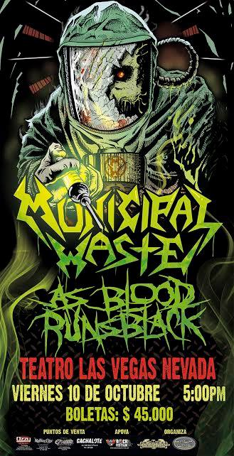 Municipal Vaste As Blood Runs Black Octubre Colombia 2014