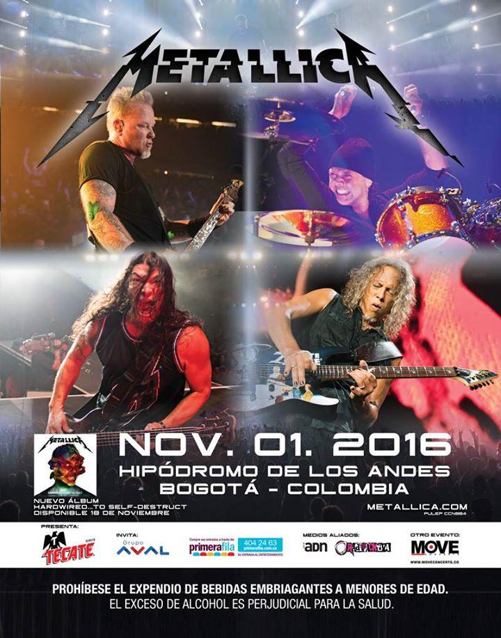 VICTIMIZED es la banda ganadora para abrir el concierto de METALLICA en Colombia.