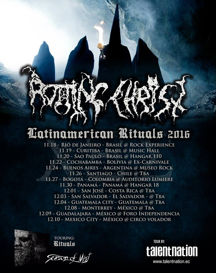 Rotting Christ latinamerican rituals 2016 factor metal - ROTTING CHRIST en Colombia - Noviembre 27, Auditorio Lumiere