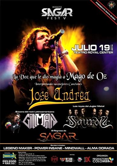Sin título 1 - El ex-vocalista de Mägo de Oz, José Ändrea y Paul Gillman estarán en el Sagar Fest V