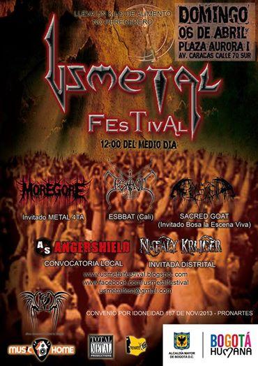 Usmetal 2014 Nueva Fecha - Cartel oficial Festival USMETAL 2014