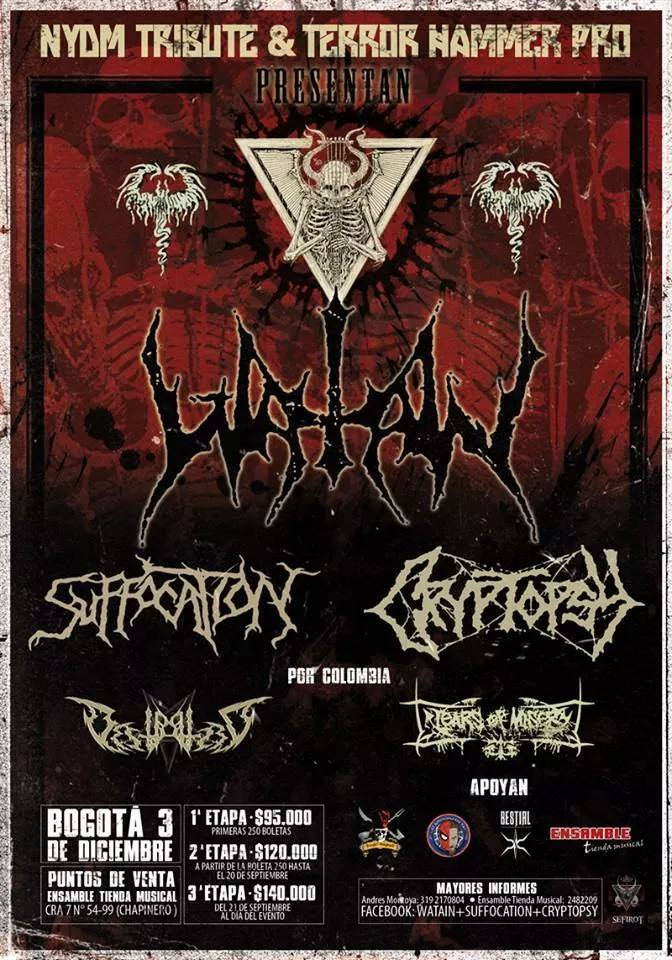 Watain - Suffocation - Cryptopsy