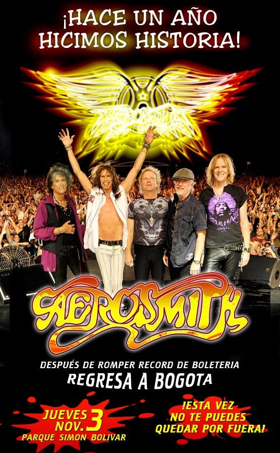 Aerosmith en Colombia 2011