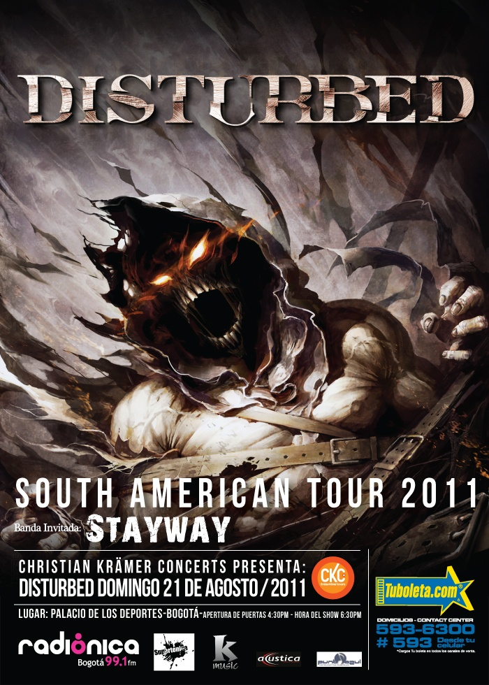 Disturbed en Colombia, Agosto 21