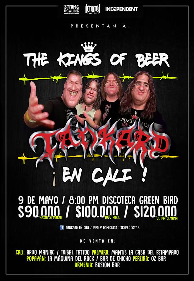 TANKARD en Cali – Mayo 09 de 2018, Green Bird Club