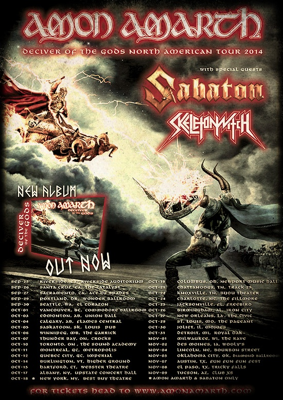 amon amarth tour - AMON AMARTH confirma gira Norteamericana