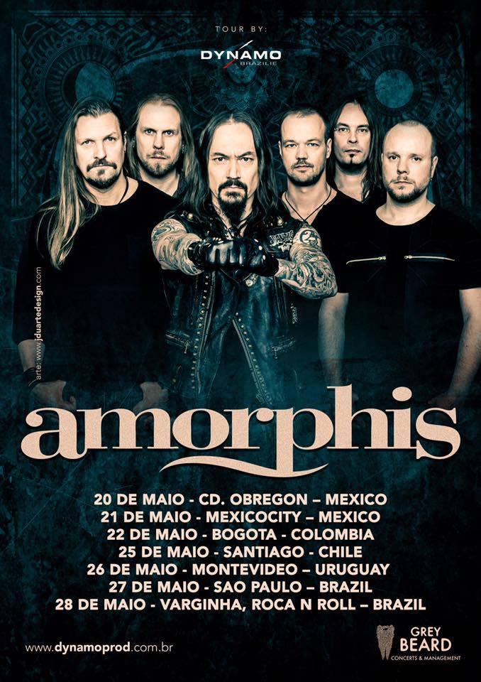 amorphis gira latinoamericana - AMORPHIS por primera vez en Colombia - Bogotá, Mayo 22