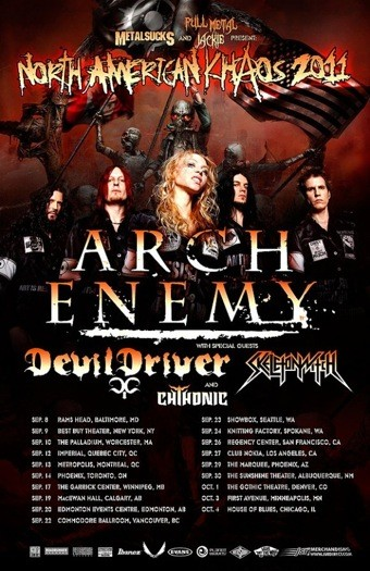 Arch Enemy gira norteamericana 2011