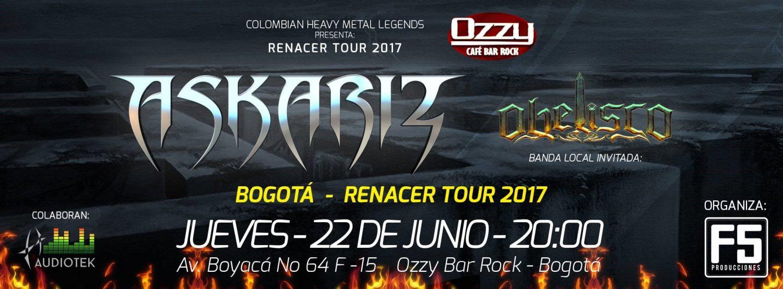 askariz bogota - ASKARIZ EN BOGOTÁ - Renacer Tour 2017.