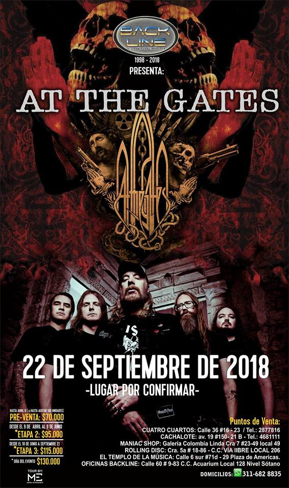 AT THE GATES presentan su nuevo vídeo «Daggers Of Black Haze»