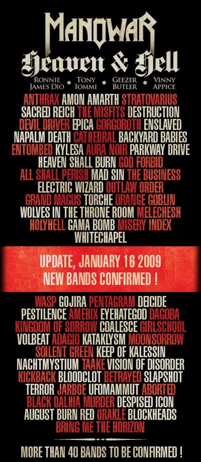 bands - Nuevas bandas confirmadas para el HELLFEST 2009