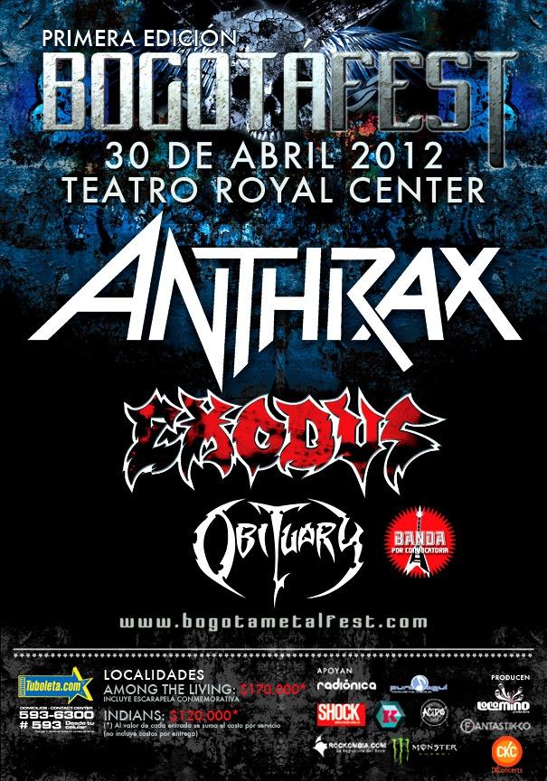 Bogota Fest 2012 - Anthrax Exodus Obituary
