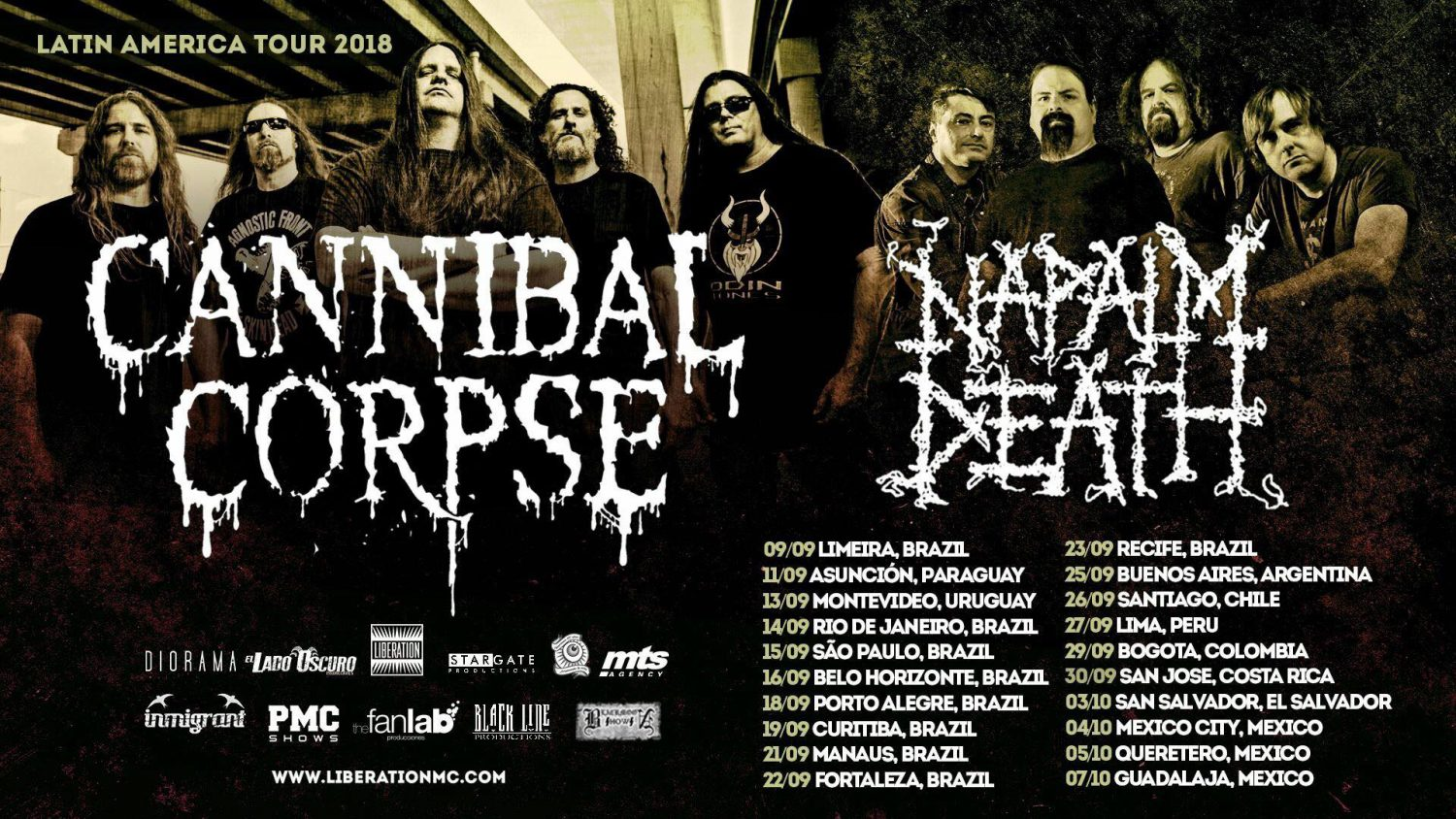 cannibal corpse napalm death bogota 2018 - CANNIBAL CORPSE junto a NAPALM DEATH en Bogotá