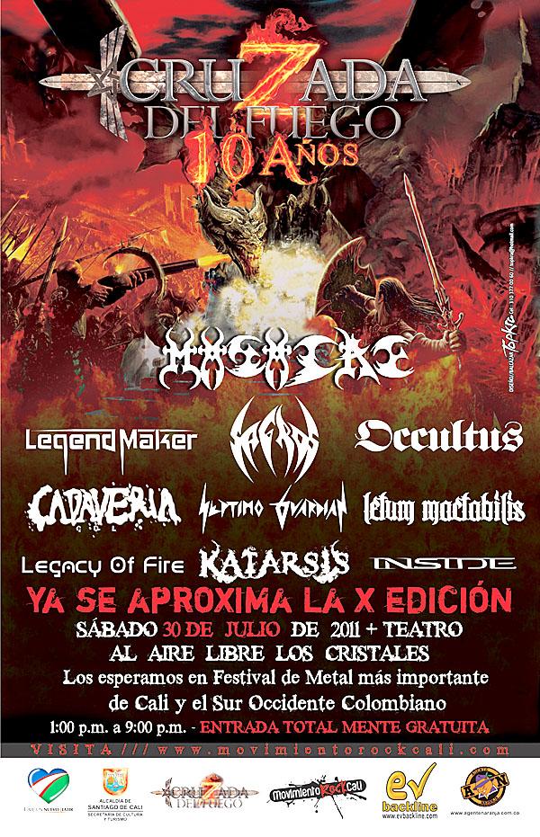 cartel cruzada del fuego 10 - Confirmado el cartel para el festival CRUZADA DEL FUEGO 10