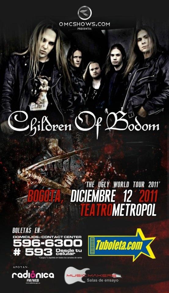 children of bodom colombia 2011 - CHILDREN OF BODOM en Colombia, Diciembre 12 de 2011, Teatro Metropol