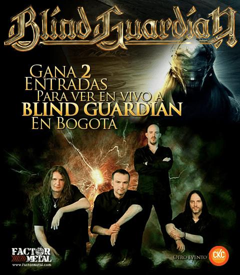 Concurso BLIND GUARDIAN en Bogotá
