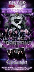 Concurso Scorpions y Cinderella en Colombia