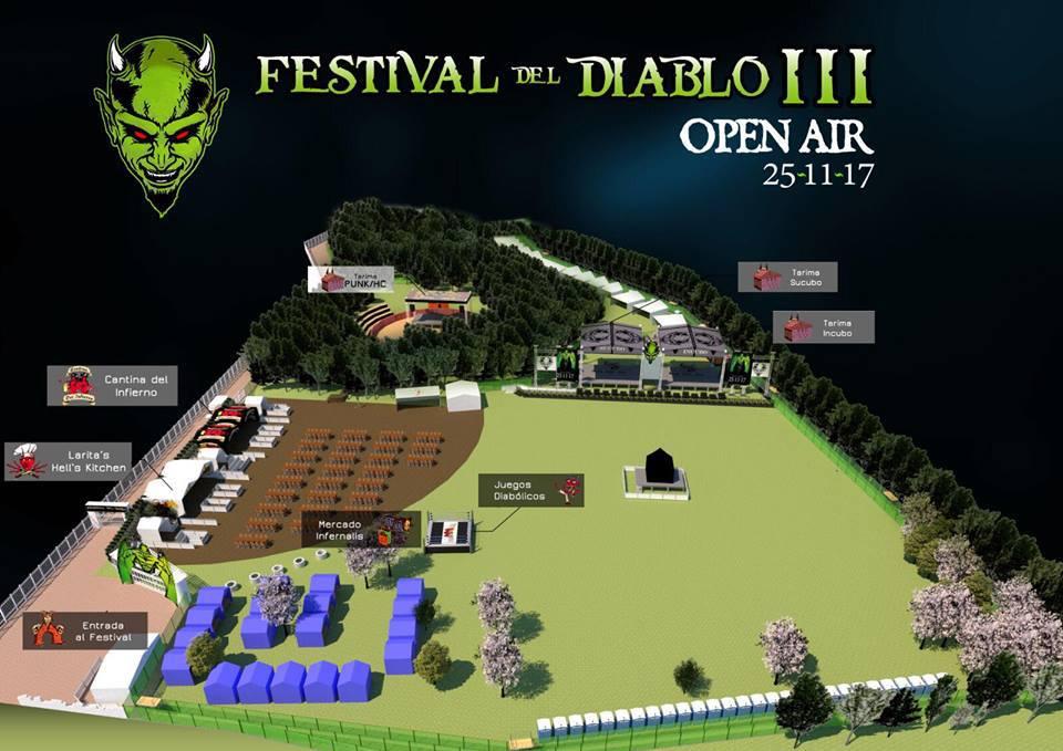 festival del diablo 2017 mapa - Una gran mezcla de generos ofrecerá EL FESTIVAL DEL DIABLO