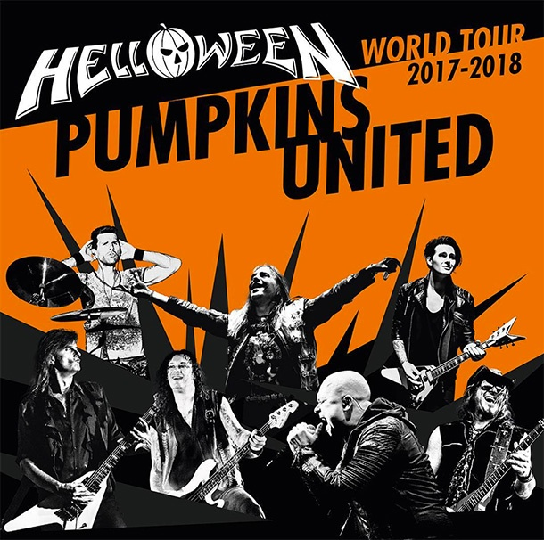 helloween pumpkins united - HELLOWEEN confirma su PUMPKINS UNITED World Tour 2017 / 2018