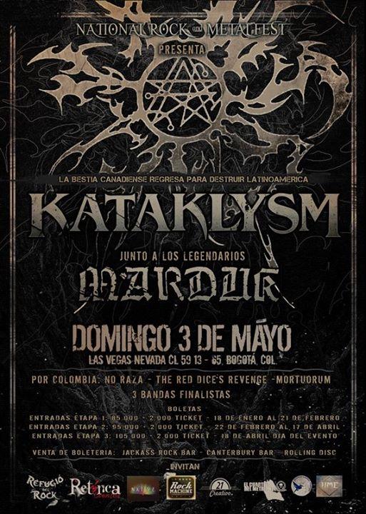 kataklyms - KATAKLYSM y MARDUK en Bogotá - NATIONAL ROCK & METAL FEST