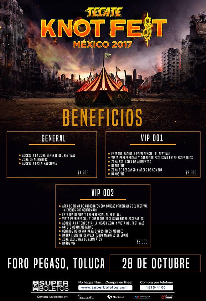 knotfest mexico 2017 entradas - Primeros anuncios del KnotFest México 2017