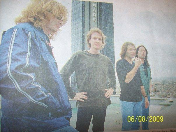 Foto: Megadeth durante su primera visita a Colombia. (Fotografía extraída de un diario reconocido a nivel nacional)