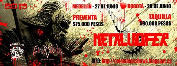Fechas confirmadas de METALUCIFER en Colombia