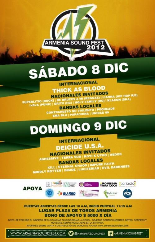 poster armenia sound fest 500x777 - Cartel oficial ARMENIA SOUND FEST 2012