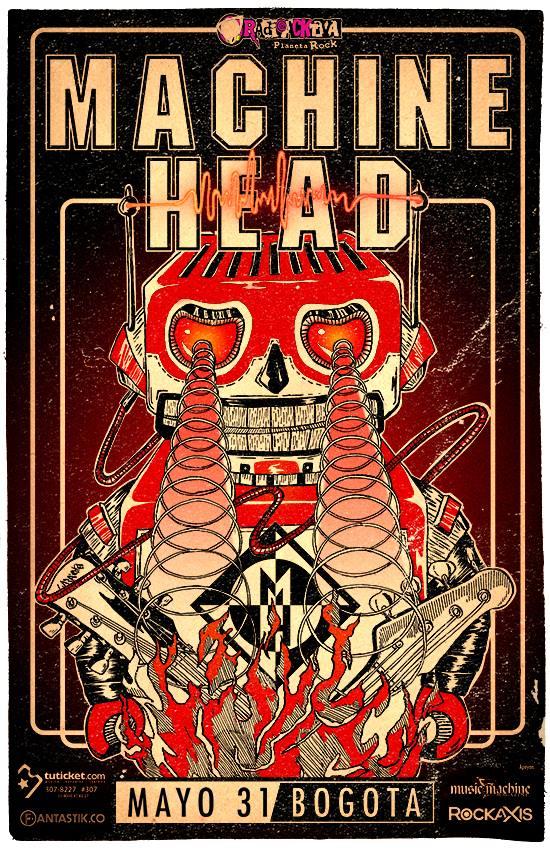 MACHINE HEAD – BLOODSTONE & DIAMONDS LATIN AMERICA TOUR 2015