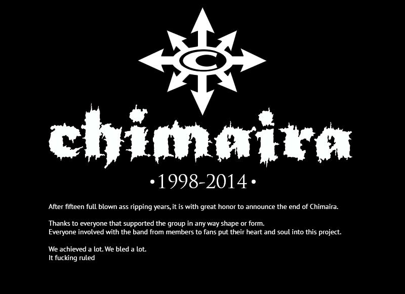 Mark Hunter confirma el final de CHIMAIRA