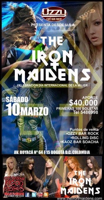 Desde Estados Unidos THE IRON MAIDENS En Colombia – Medellín, Pereira, Soacha y Bogotá