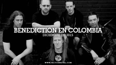 Photo of Confirmadas fechas BENEDICTION en Colombia para el 2015