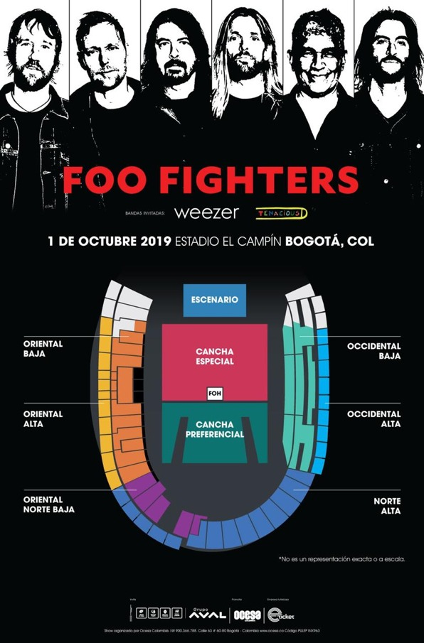 FOO FIGHTERS regresa a Colombia