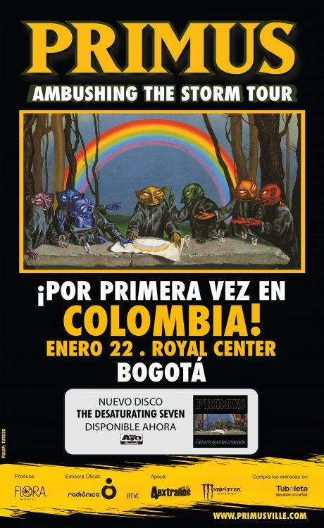 A POCOS DIAS DE TENER A PRIMUS EN BOGOTA