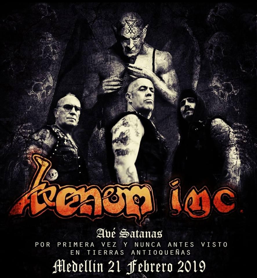 Detalles de la gira de VENOM INC en Colombia